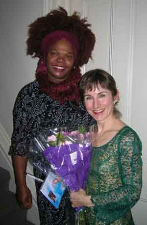 Stephanie Bennett with concert attendee