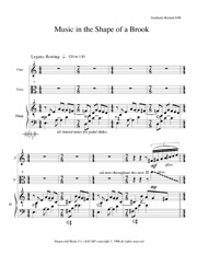 Music in the Shape of a Brook first p