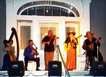 Stephanie performs with Cowboy Celtic