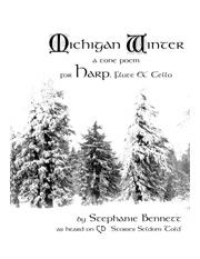 Michigan Winter for harp flute and cello