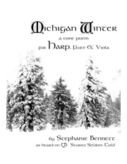 Michigan Winter for harp flute and VIOLA