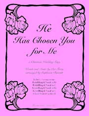 He Has chosen You for Me, sheet music for harp and vocal