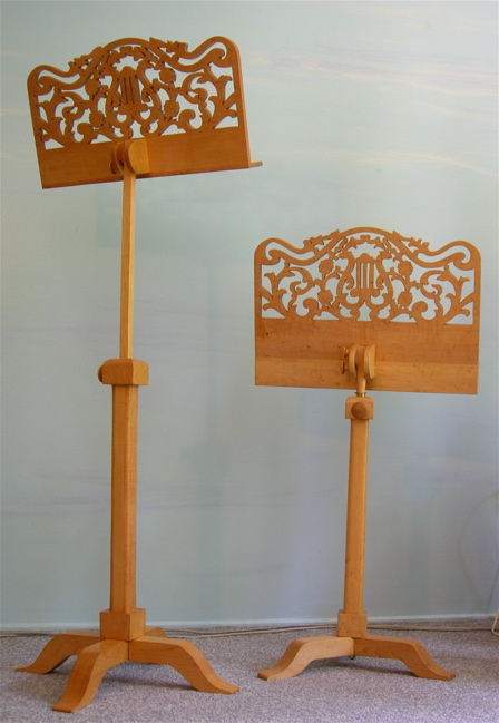 wood music stands